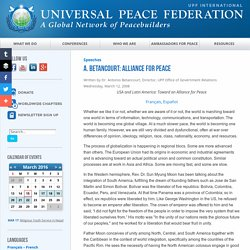 A. Betancourt: Alliance for Peace - Universal Peace Federation