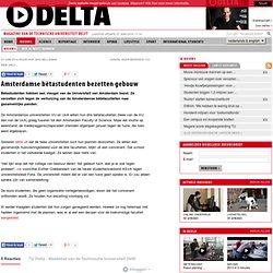 Amsterdamse bètastudenten bezetten gebouw