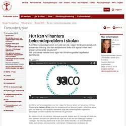 Hur kan vi hantera beteendeproblem i skolan – Sveriges Psykologforbund