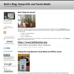 Beth's Blog: How Nonprofit Organizations Can Use Social Media to