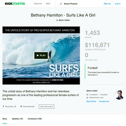 Bethany Hamilton - Surfs Like A Girl by Aaron Lieber