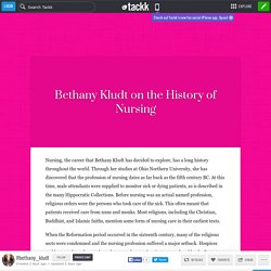Bethany Kludt on the History of Nursing