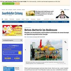 Beton-Batterie im Bodensee