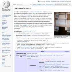 Béton translucide