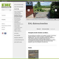 Betonplatten EHL-Bahnschwellen Heim & Garten