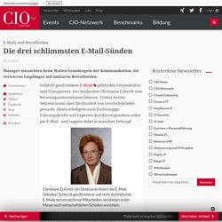 E-Mails und Betreffzeilen: Die drei schlimmsten E-Mail-Sünden - cio.de
