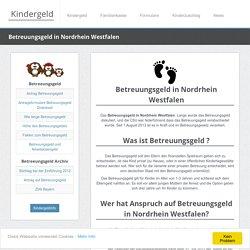 Betreuungsgeld in Nordrhein Westfalen