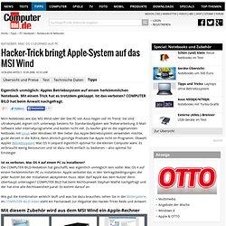 Apple-Betriebssystem Mac OS Leopard auf MSI Wind Netbook