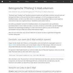 "Betrügerische ""Phishing""-E-Mails erkennen"