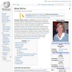 Betsy DeVos - Wikipedia