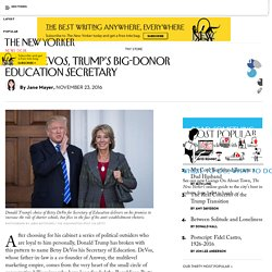 Betsy DeVos, Trump's Big-Donor Education Secretary