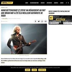 Nuno Bettencourt et Steve Vai réagissent au fait que Brian May a été élu meilleur guitariste de Rock