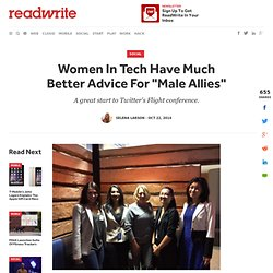 "Women In Tech Have Much Better Advice For ""Male Allies"""