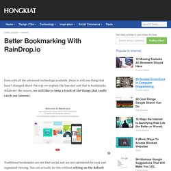 Better Bookmarking With RainDrop.io