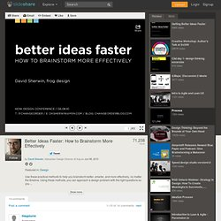Better Ideas Faster: How to Brainstorm More Effectively