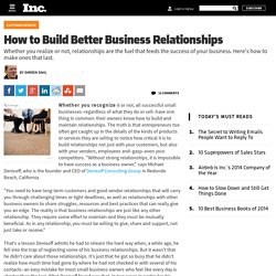 How to Build Better Business Relationships