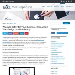Which Is Better for Your Business: Responsive Web Design or a Mobile App?