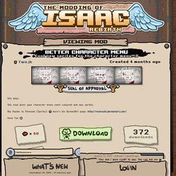 (BETA) Better Character Menu - Modding of Isaac