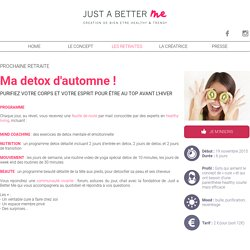 Just A Better Me - Création de bien-être Healthy & Trendy