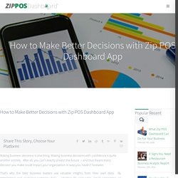 How to Make Better Decisions with Zip POS Dashboard App