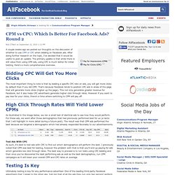CPM vs CPC: Which Is Better For Facebook Ads? Round 2