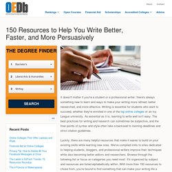 150 Resources to Help You Write Better, Faster, and More Persuasively
