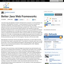 Better Java Web Frameworks