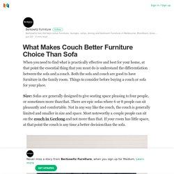What Makes Couch Better Furniture Choice Than Sofa – Berkowitz Furniture – Medium