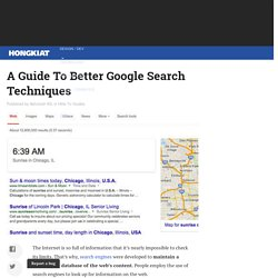 google search techniques