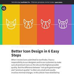 Better Icon Design in 6 Easy Steps