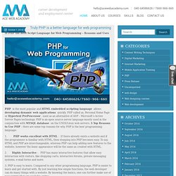 Truly PHP is a better language for web programming