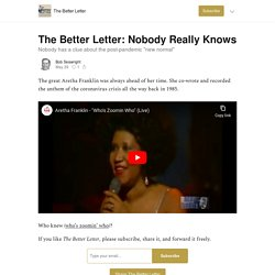The Better Letter: Nobody Really Knows - The Better Letter