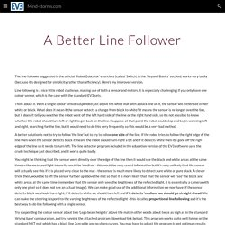 A Better Line Follower - MIND-STORMS.COM