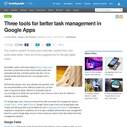 Three tools for better task management in Google Apps