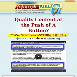 Better Than Private Label Rights -- Article Builder