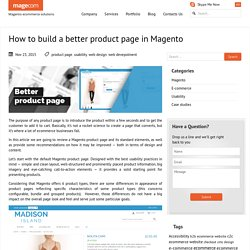 How to build a better product page in Magento