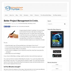 Five Minutes to better Project Management using Mind Maps
