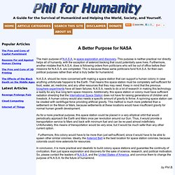 A Better Purpose for NASA « Phil for Humanity