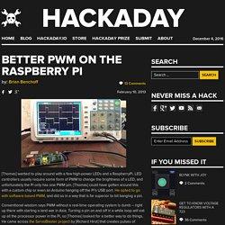 Better PWM on the Raspberry Pi