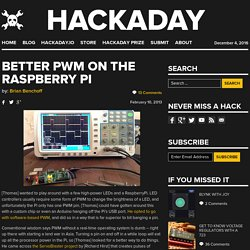 Better PWM on the Raspberry Pi