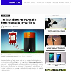 The key to better rechargeable batteries may be in your blood