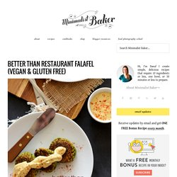 Better Than Restaurant Falafel (Vegan & Gluten Free)