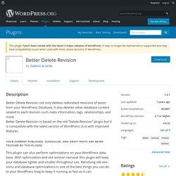 Better Delete Revision – WordPress plugin