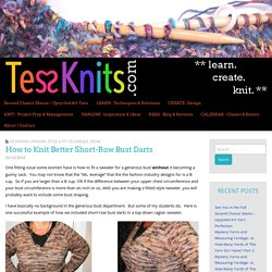 How to Knit Better Short-Row Bust Darts – TessKnits.com