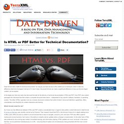 Is HTML or PDF Better for Technical Documentation?