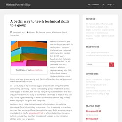 A better way to teach technical skills to a group – Miriam Posner's Blog