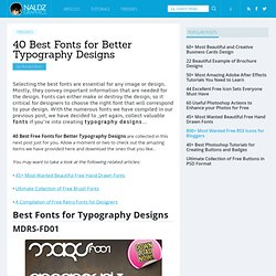 40 Best Fonts for Better Typography Designs