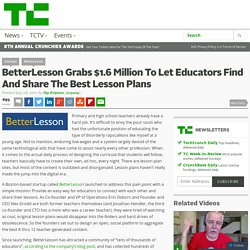 BetterLesson Grabs $1.6 Million To Let Educators Find And Share The Best Lesson Plans