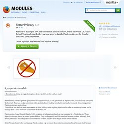 BetterPrivacy :: Modules pour Firefox