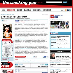 Bettie Page, FBI Consultant